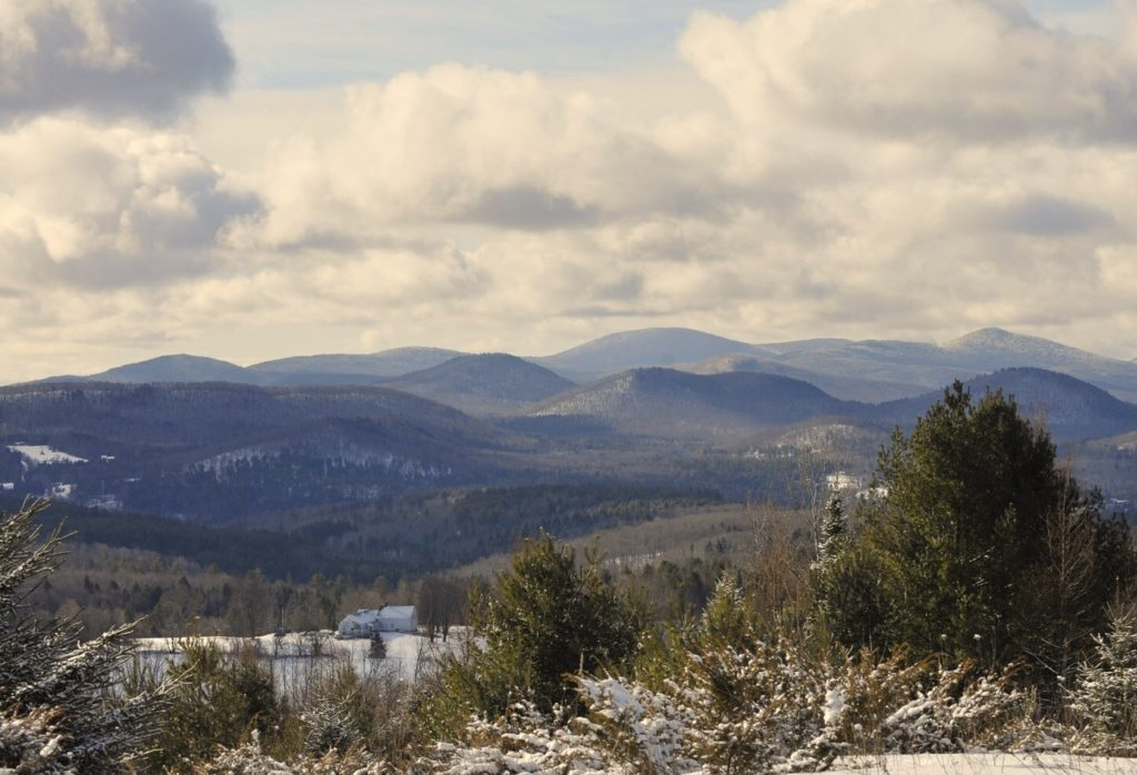 A view of Vermont mountains in early winter